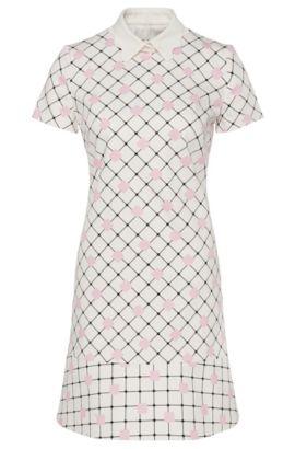 'Kaorie' | Stretch Cotton Textured Shift Dress, Natural