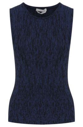 'Filotta' | Viscose Blend Ribbed Patterned Sweater, Patterned