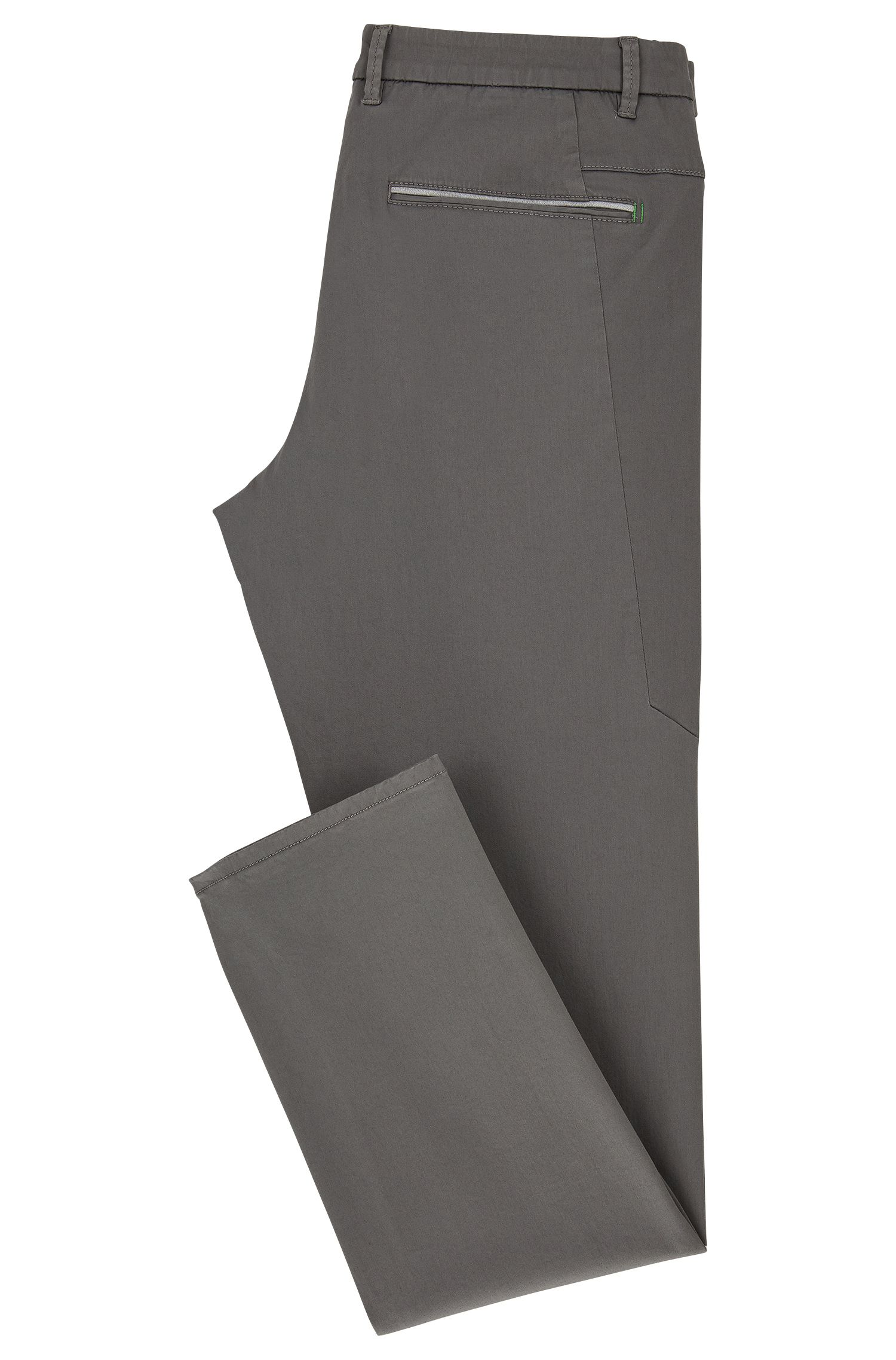 Slim Fit, Stretch Cotton Blend Pants | Leeman W, Grey
