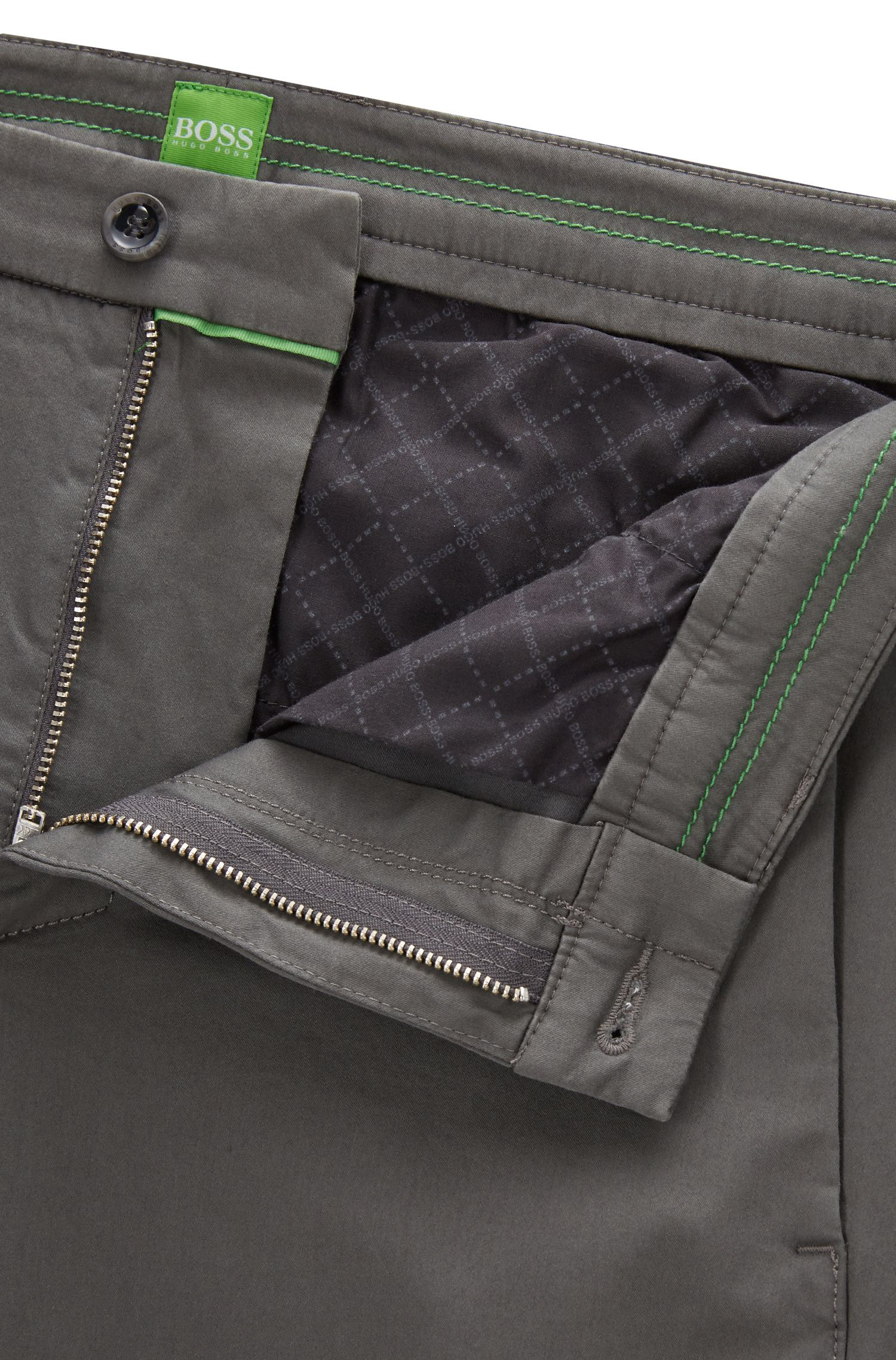 Slim Fit, Stretch Cotton Blend Pants | Leeman W