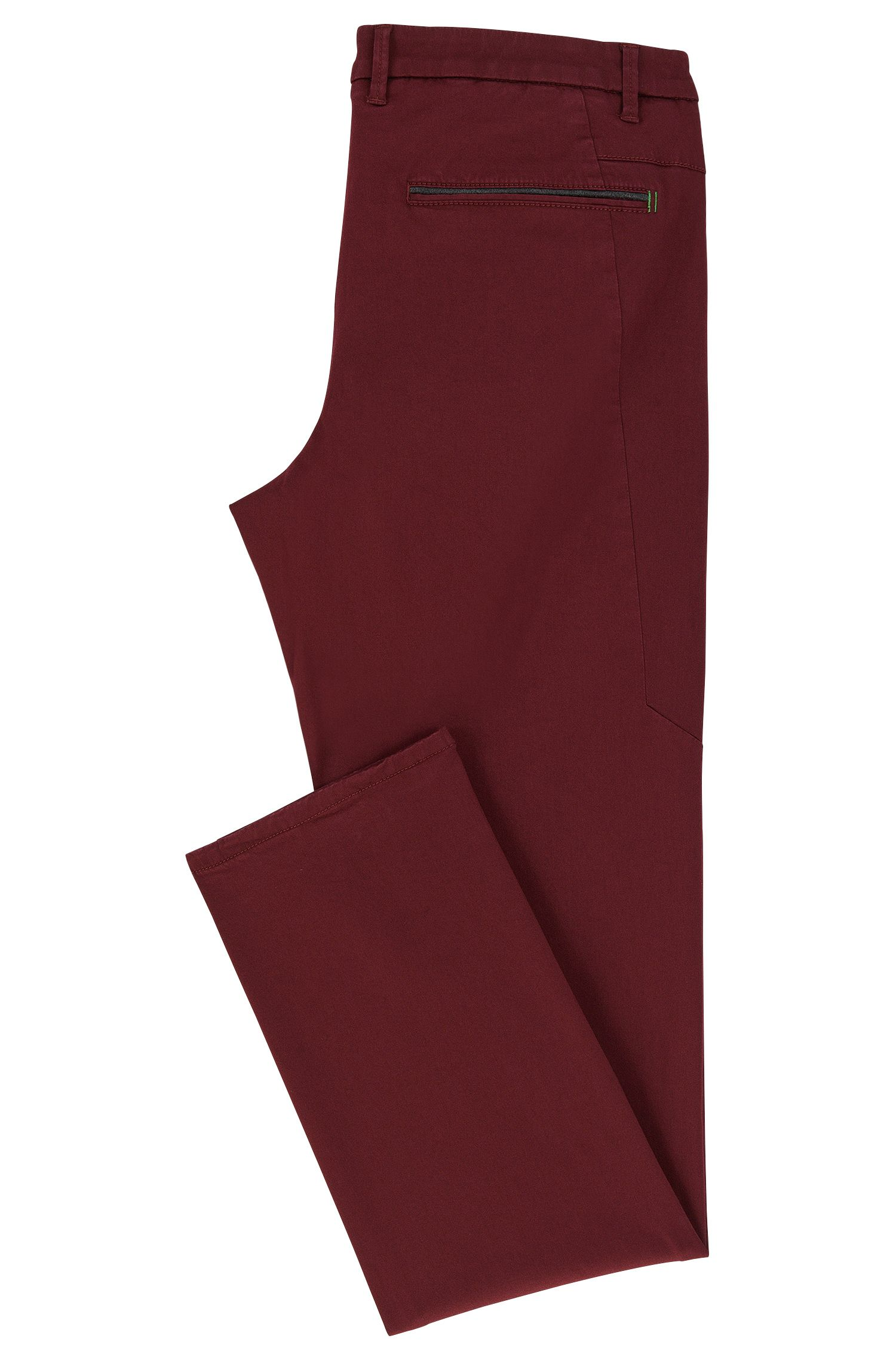 Slim Fit, Stretch Cotton Blend Pants | Leeman W, Red