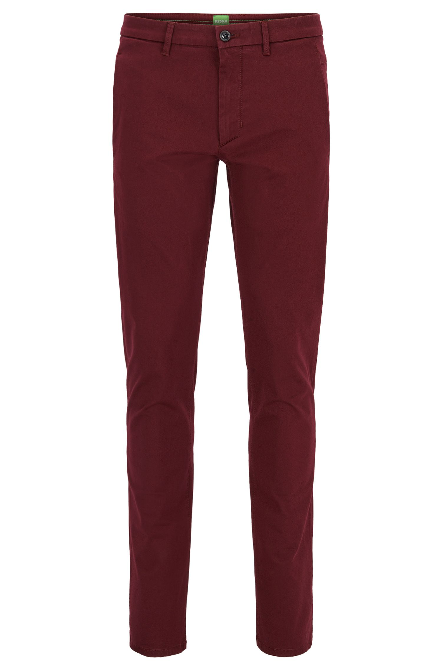 Slim Fit, Stretch Cotton Blend Pants | Leeman W