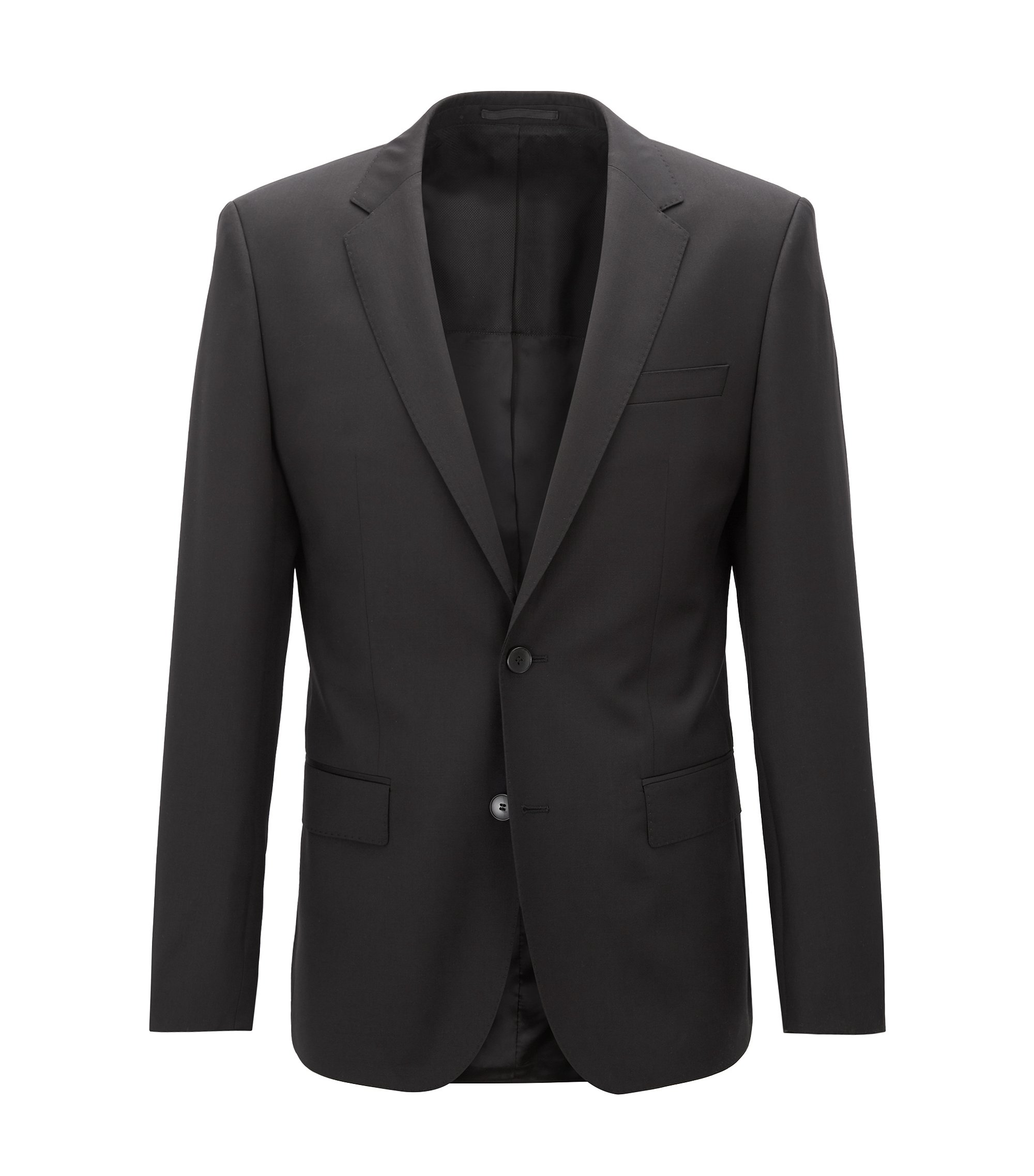 Italian Virgin Wool Sport Coat, Slim Fit | Hayes CYL, Black