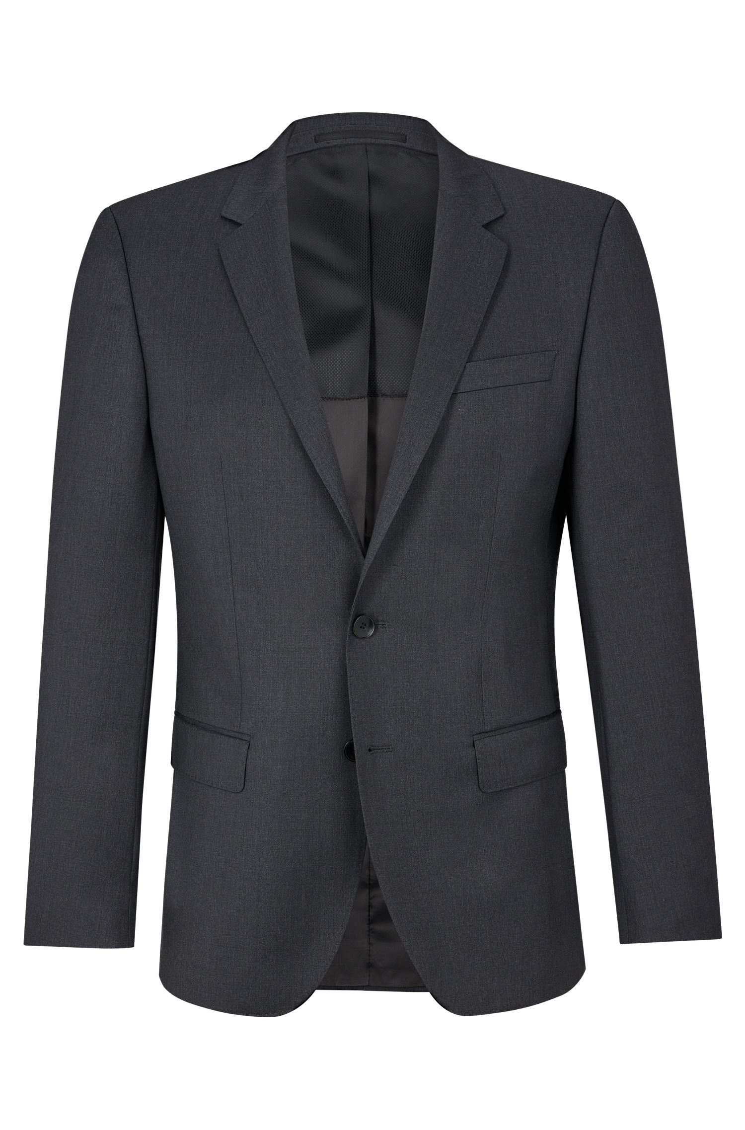 Italian Virgin Wool Sport Coat, Slim Fit | Hayes CYL, Dark Grey