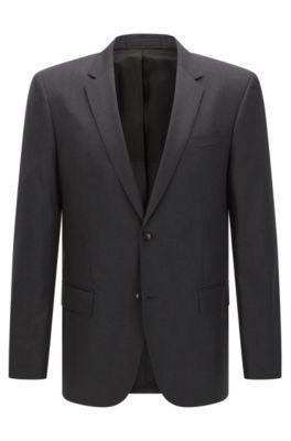 Italian Super 120 Virgin Wool Sport Coat, Slim Fit | Hayes CYL, Dark Grey
