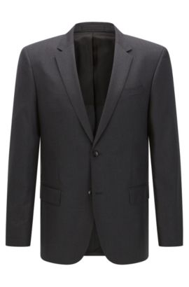 'Hayes Cyl' | Slim Fit, Italian Super 120 Virgin Wool Sport Coat, Dark Grey