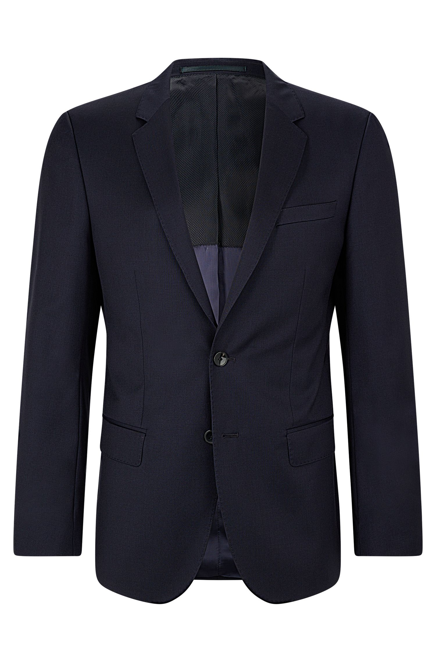 Italian Virgin Wool Sport Coat, Slim Fit | Hayes CYL, Dark Blue