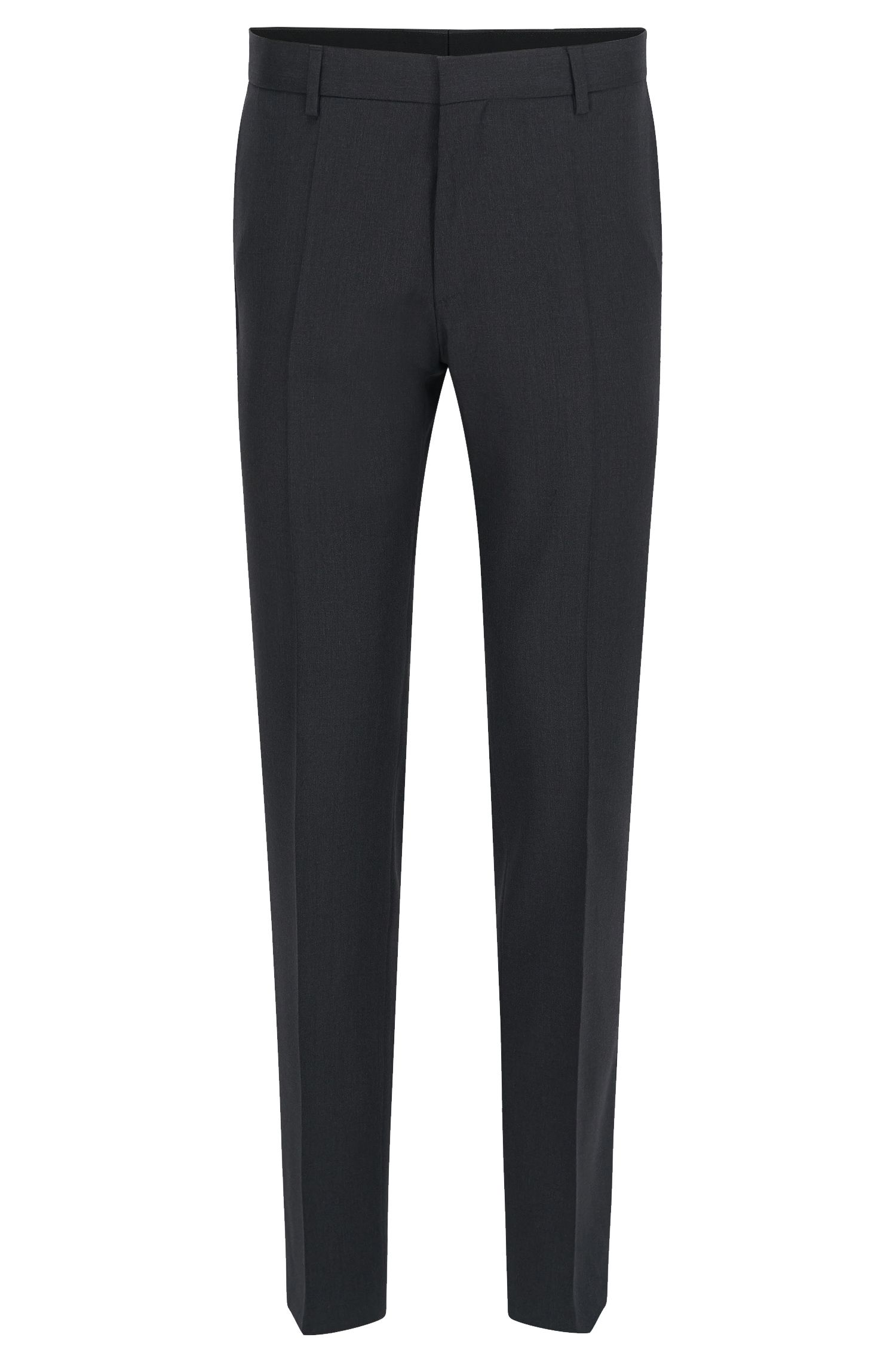 Virgin Wool Dress Pants, Slim Fit | Gibson CYL, Dark Grey