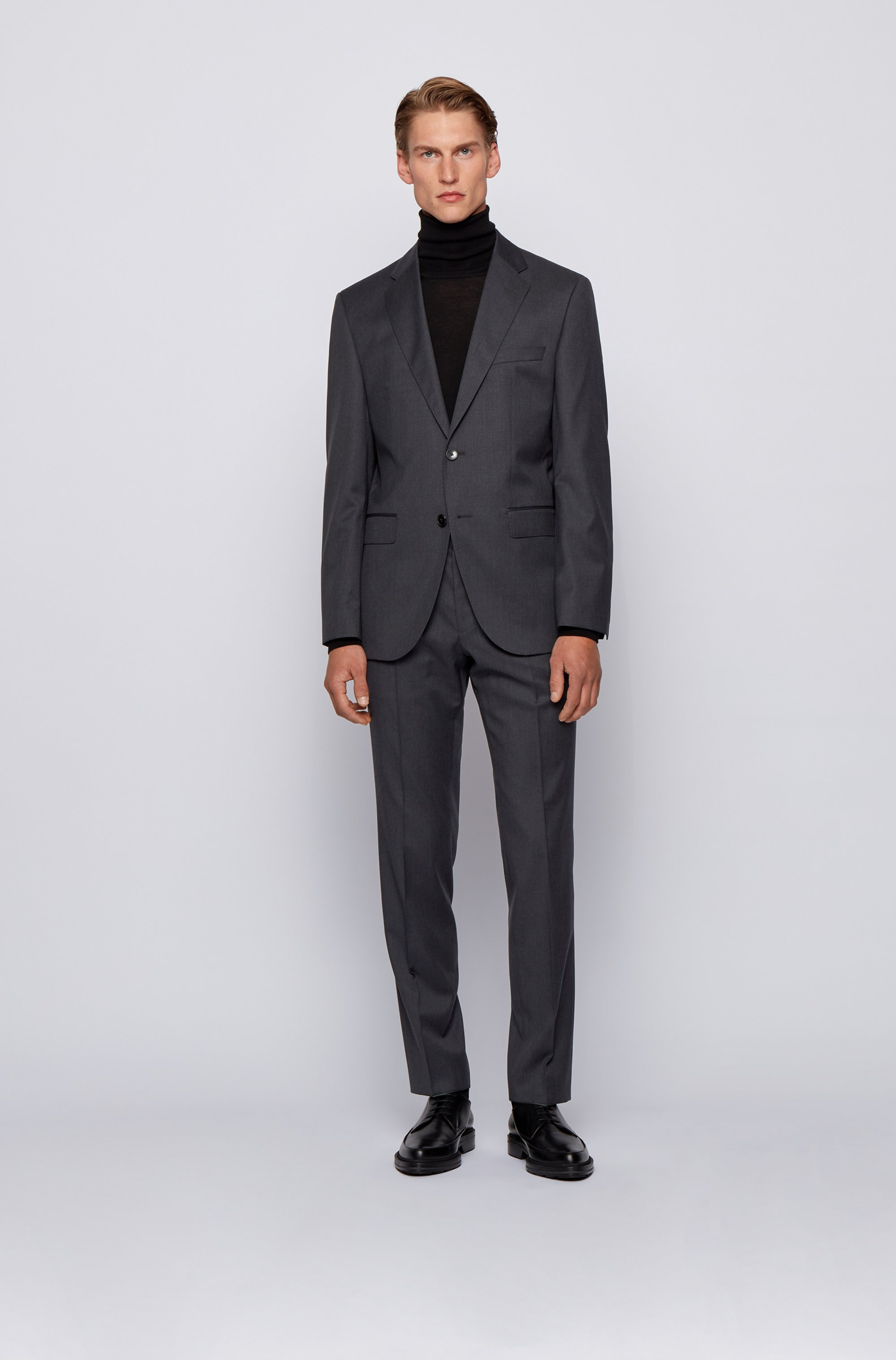 Slim-fit pants in pure virgin wool