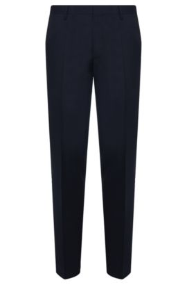 Virgin Wool Dress Pants, Slim Fit | Gibson CYL, Dark Blue
