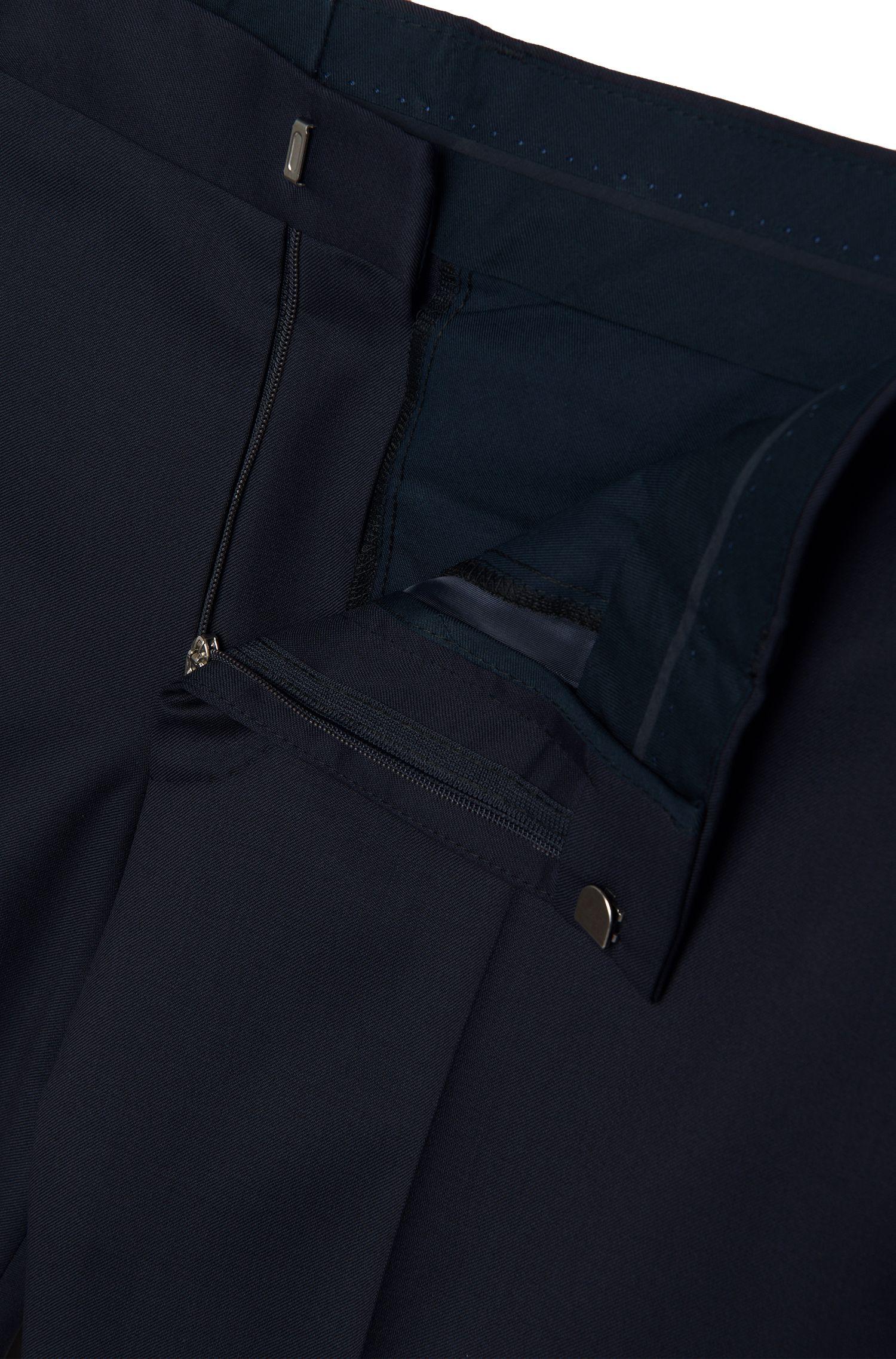 Virgin Wool Dress Pants, Slim Fit | Gibson CYL