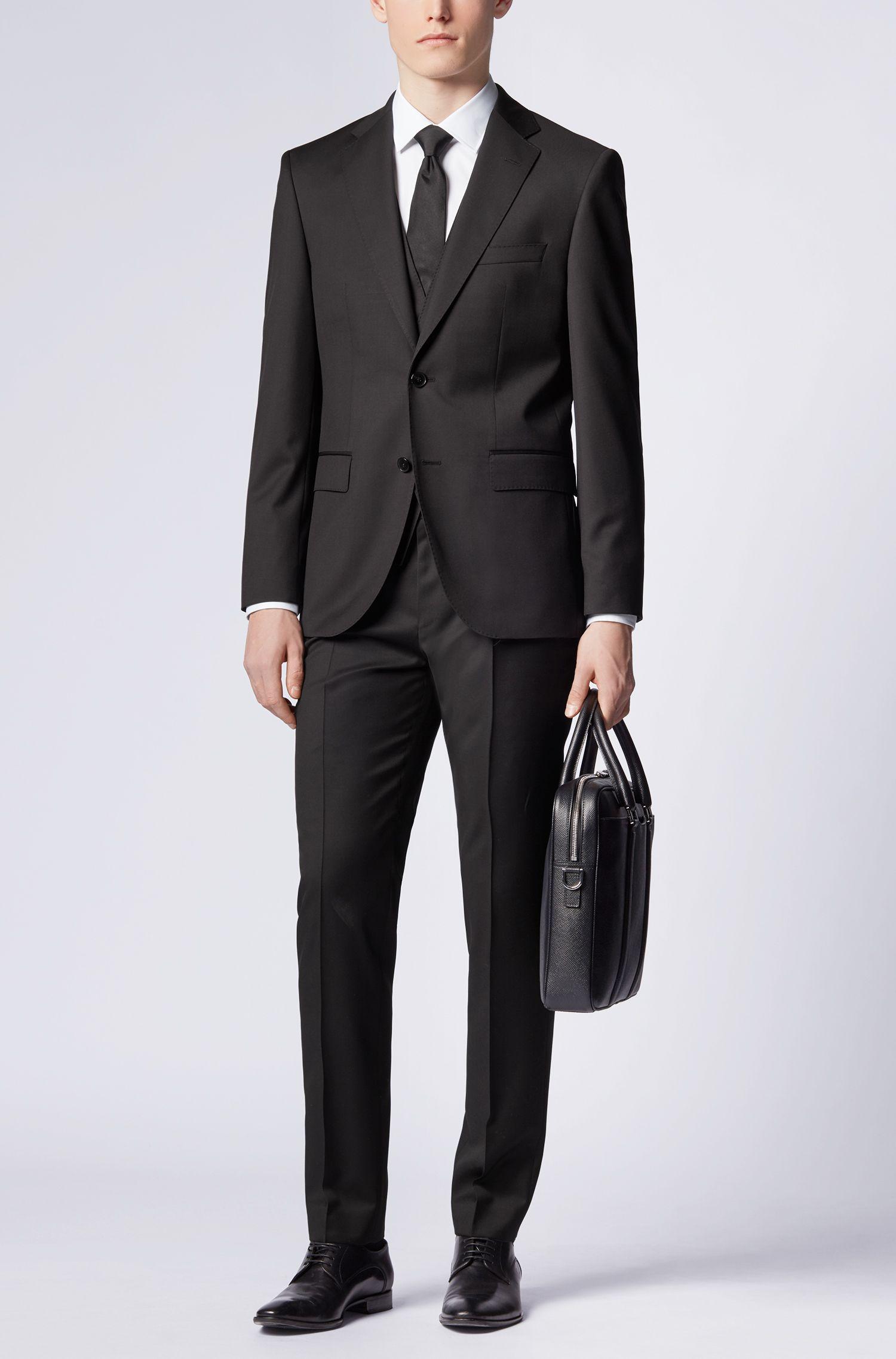 Virgin Wool Waistcoat, Slim Fit | Wilson CYL