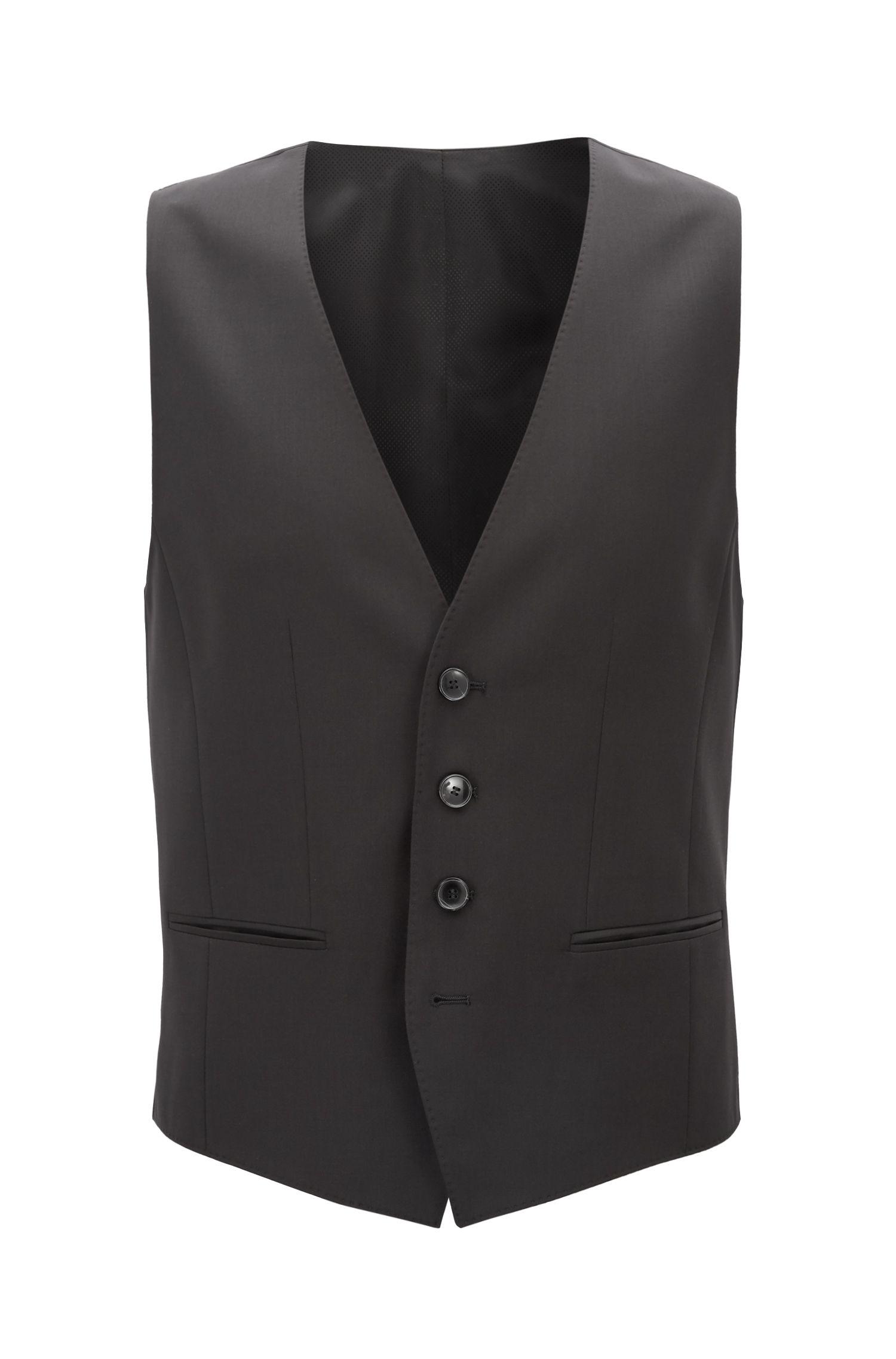 Virgin Wool Waistcoat, Slim Fit   Wilson CYL