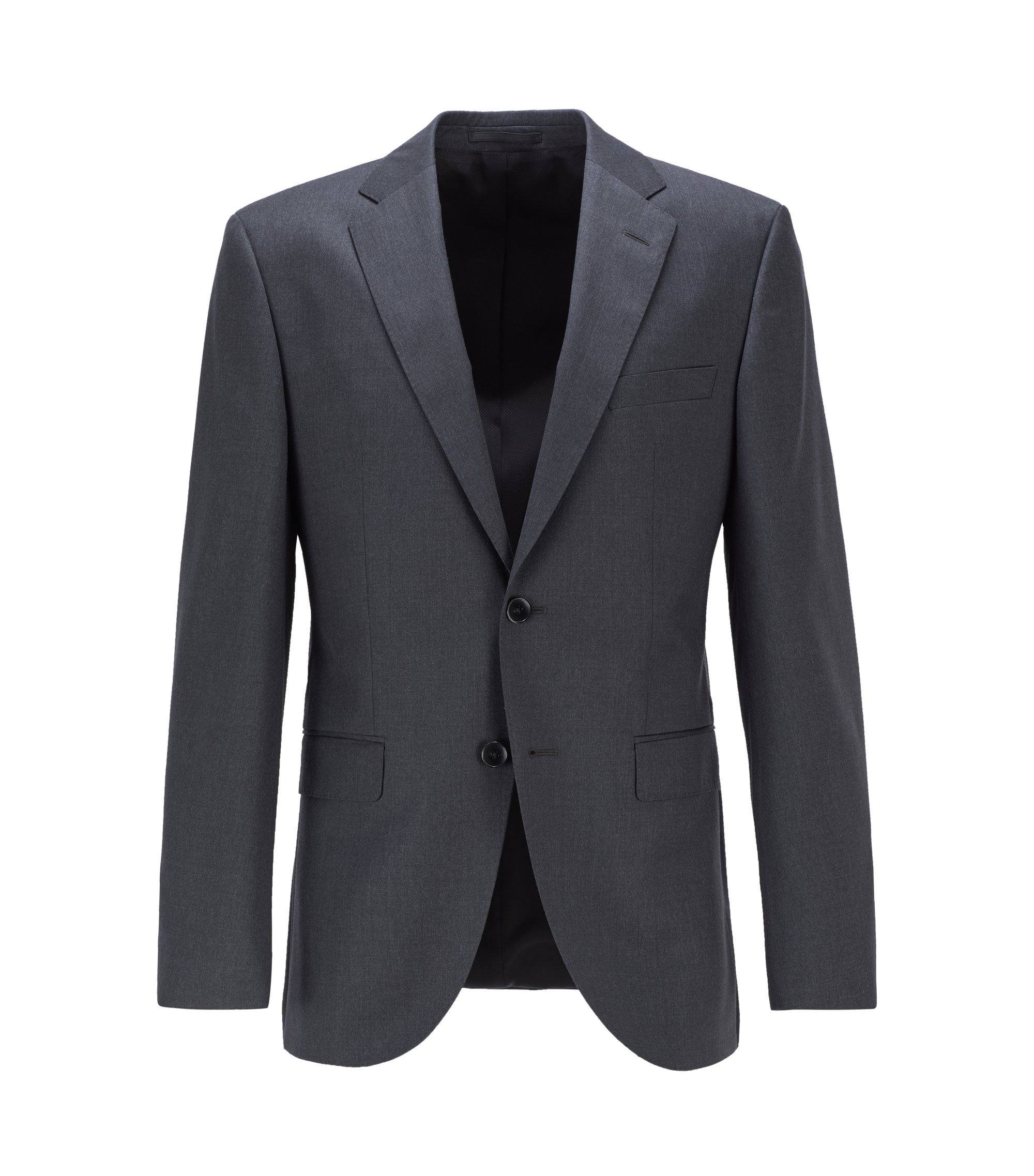 Italian Virgin Wool Sport Coat, Regular Fit | Johnstons CYL, Dark Grey