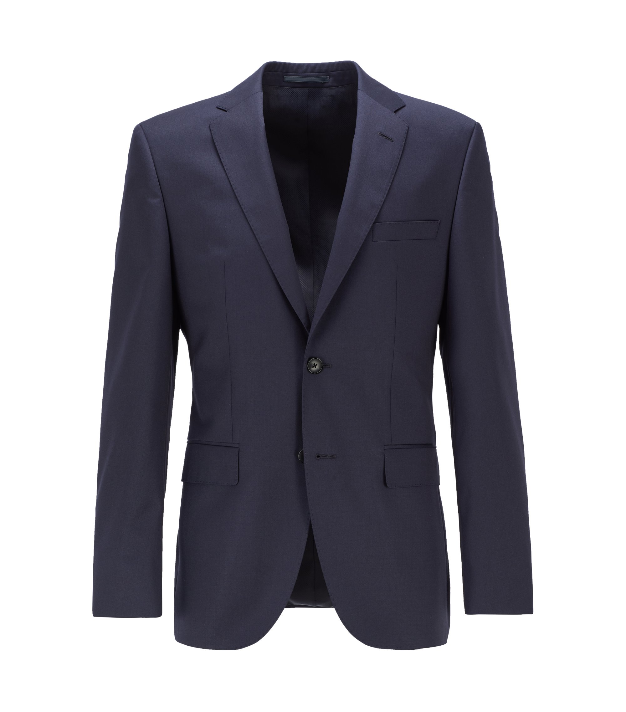 Italian Virgin Wool Sport Coat, Regular Fit | Johnstons CYL, Dark Blue