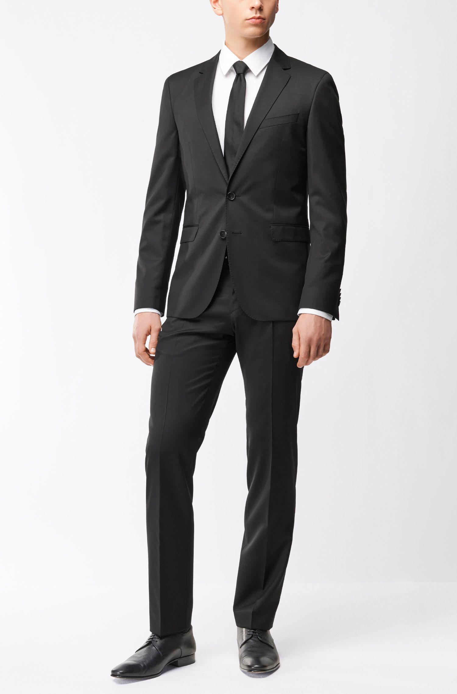 Italian Virgin Wool Sport Coat, Extra Slim Fit | Ryan CYL, Black