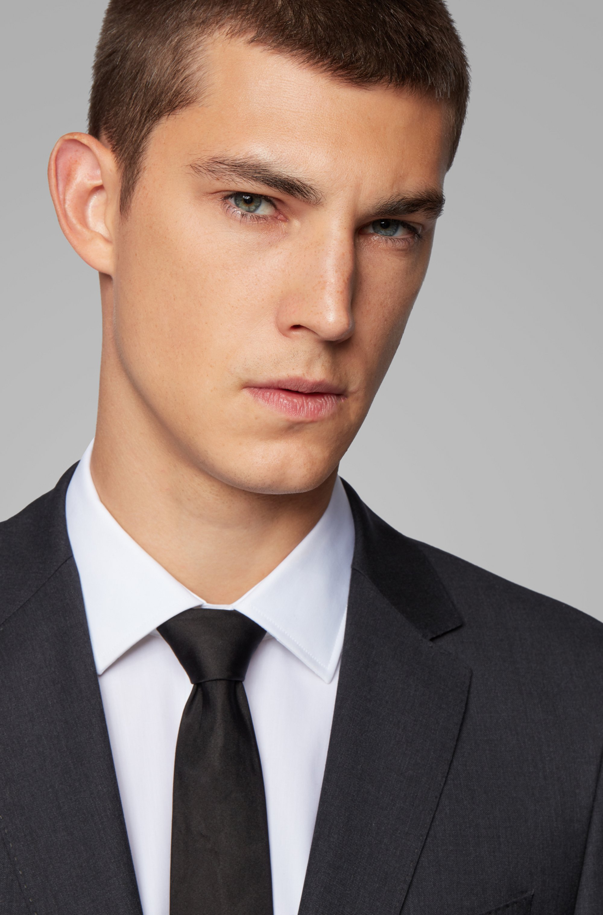 Extra-slim-fit jacket in pure wool
