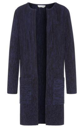 'Fivana' | Viscose Blend Open Front Ribbed Cardigan, Patterned