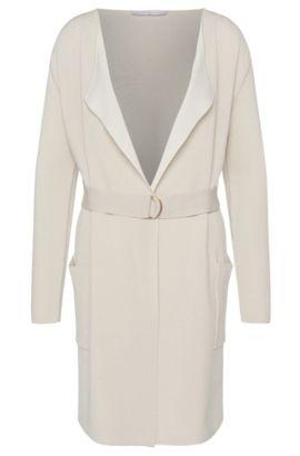 'Faresa' | Cotton Blend Open Front Cardigan, Patterned