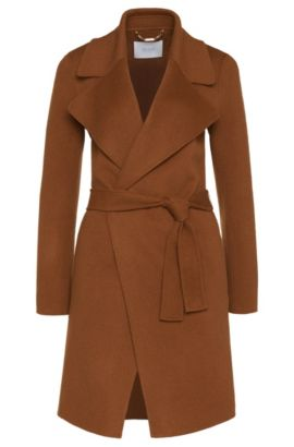 'Citana' | Wool Cashmere Belted Coat, Brown