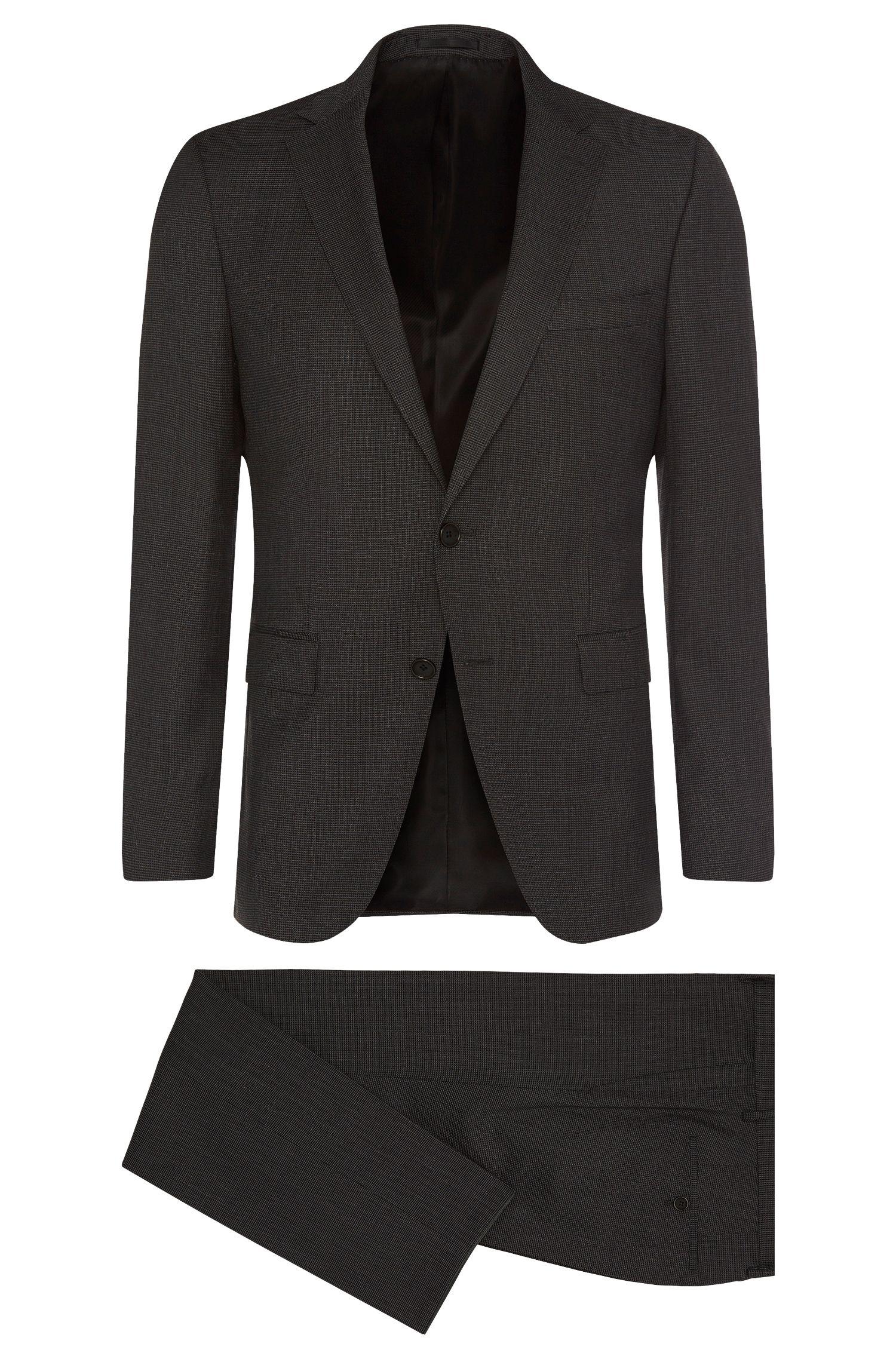 Super 100 Virgin Wool Suit, Slim Fit | Novan/Ben