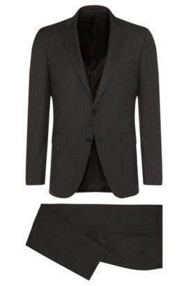Super 100 Virgin Wool Suit, Slim Fit | Novan/Ben, Open Grey