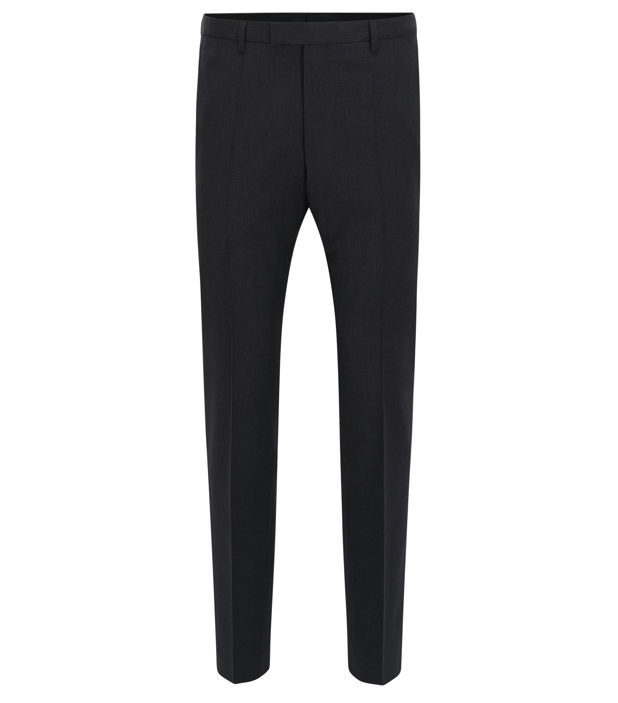 Virgin Wool Dress Pants, Regular Fit | Lenon CYL, Dark Grey
