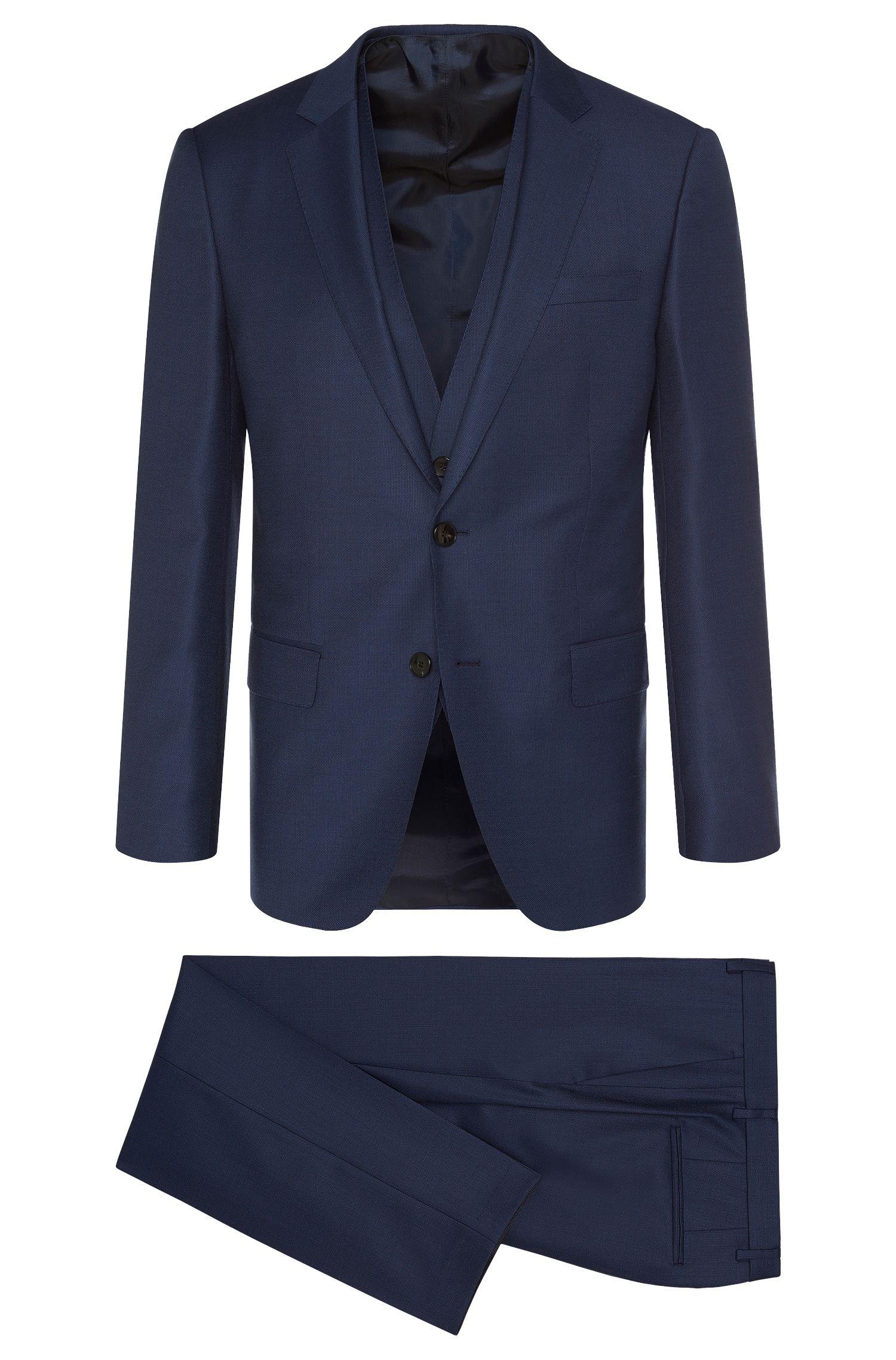 'Hevans/Gill WE' | Slim Fit, Italian Super 120 Virgin Wool 3-Piece Suit
