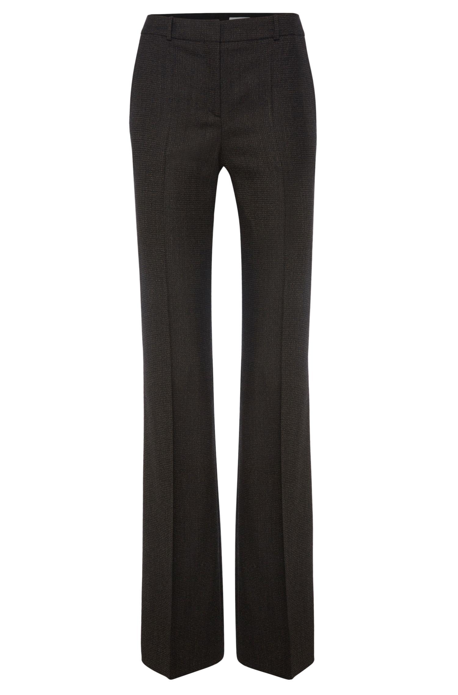 'Tusini' | Stretch Virgin Wool Tweed Dress Pants