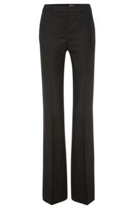 'Tusini'   Stretch Virgin Wool Tweed Dress Pants, Patterned