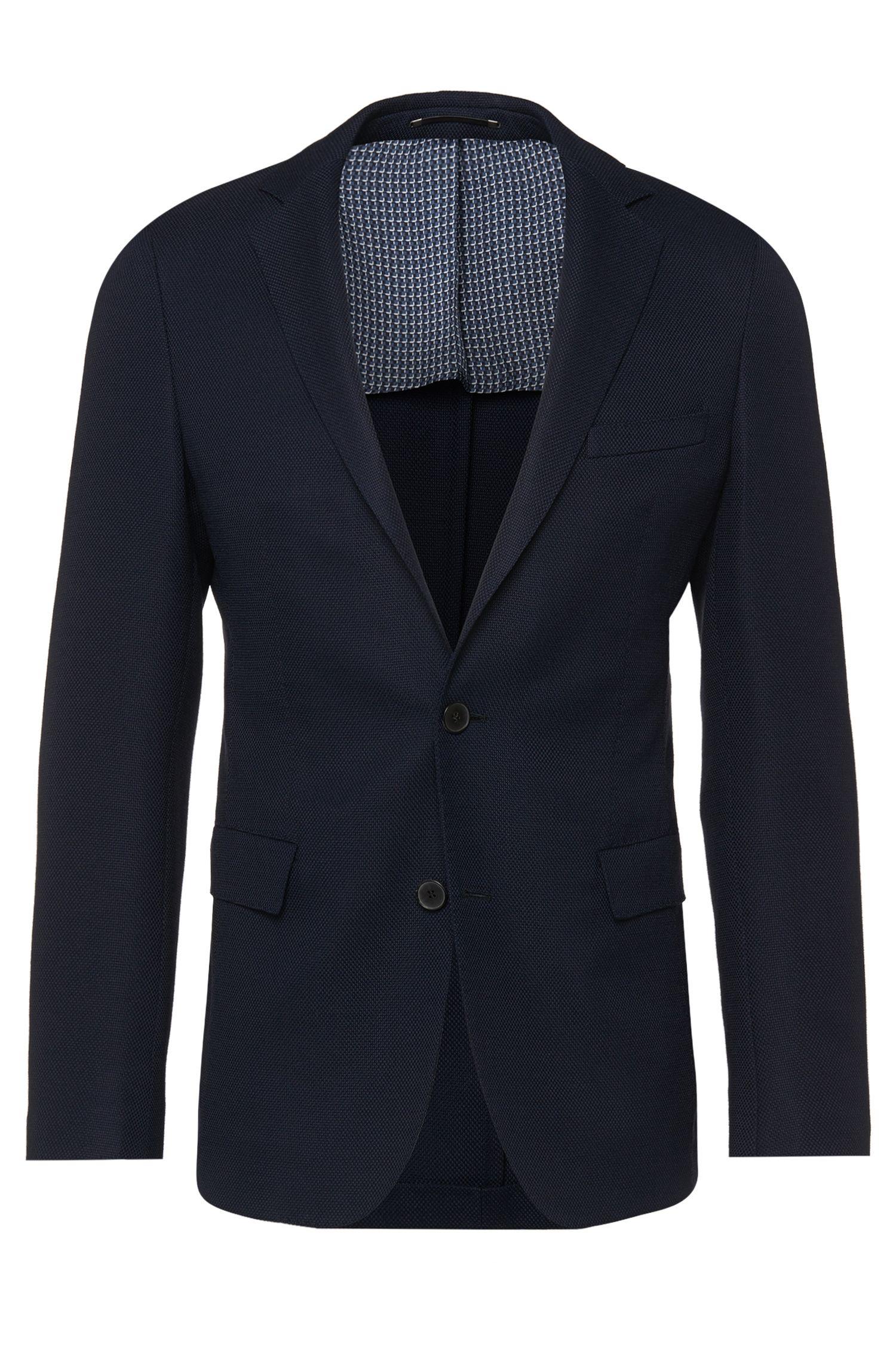 'Roan' | Extra Slim Fit, Italian Stretch Virgin Wool Textured Sport Coat