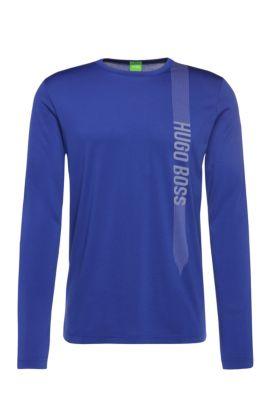 'Togn' | Cotton Blend Logo Long Sleeve T-Shirt, Open Blue