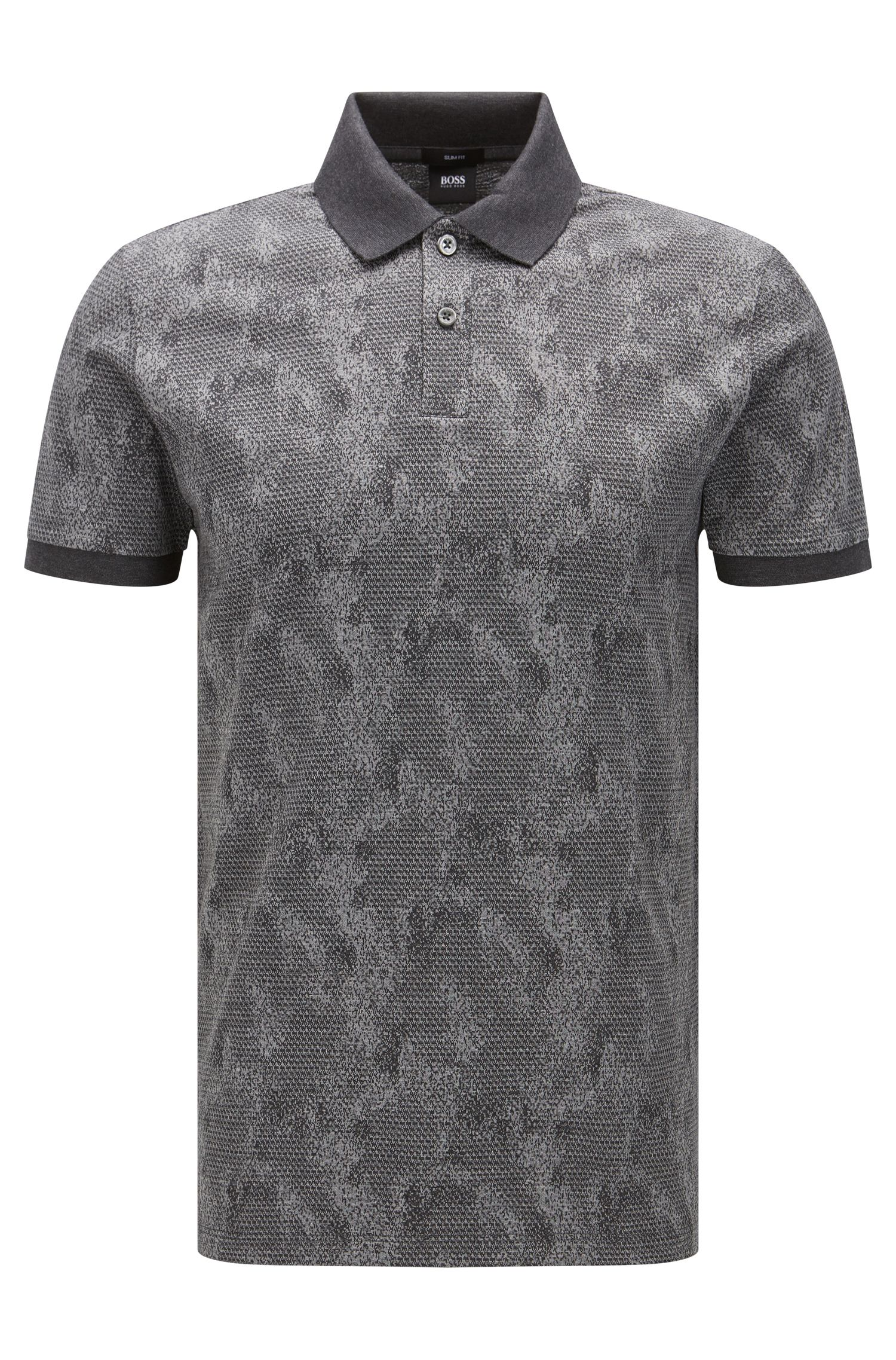 'Phillipson' | Slim Fit, Cotton Patterned Polo Shirt