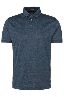 'T-Perkins' | Regular Fit, Italian Cotton Polo Shirt, Dark Blue