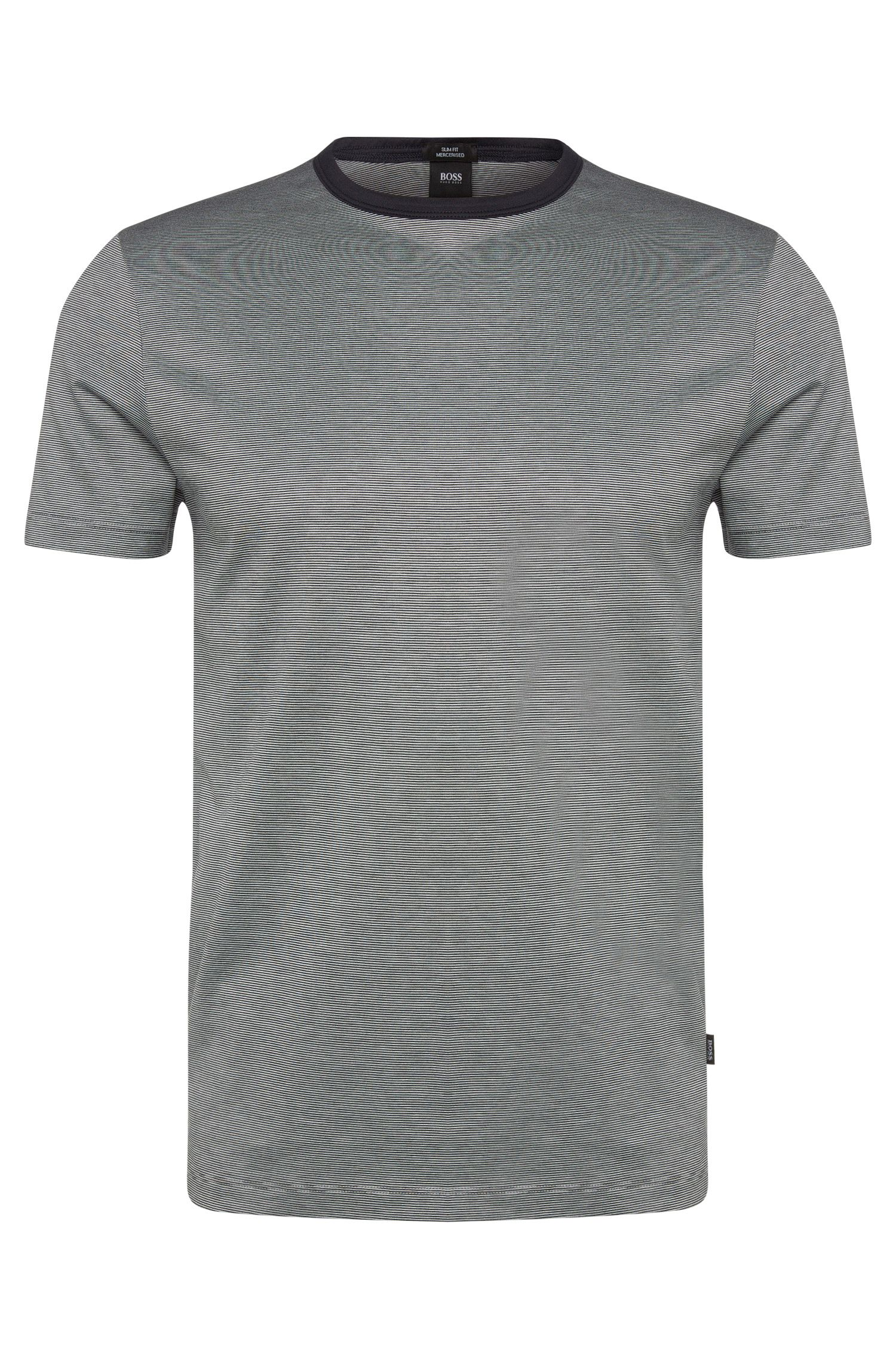'Tessler' | Cotton Finestripe T-Shirt