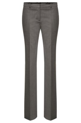 'Tamea' | Stretch Virgin Wool Blend Patterned Dress Pants, Patterned