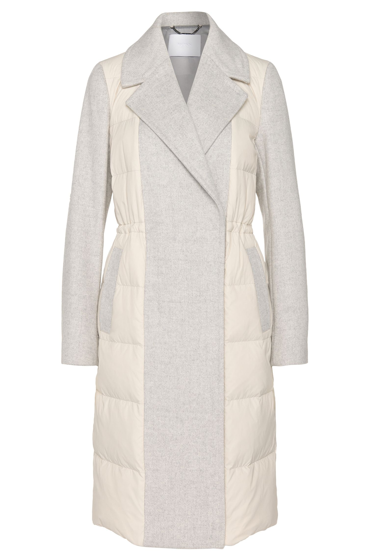 'Polea' | Wool Nylon Long Puffer Coat
