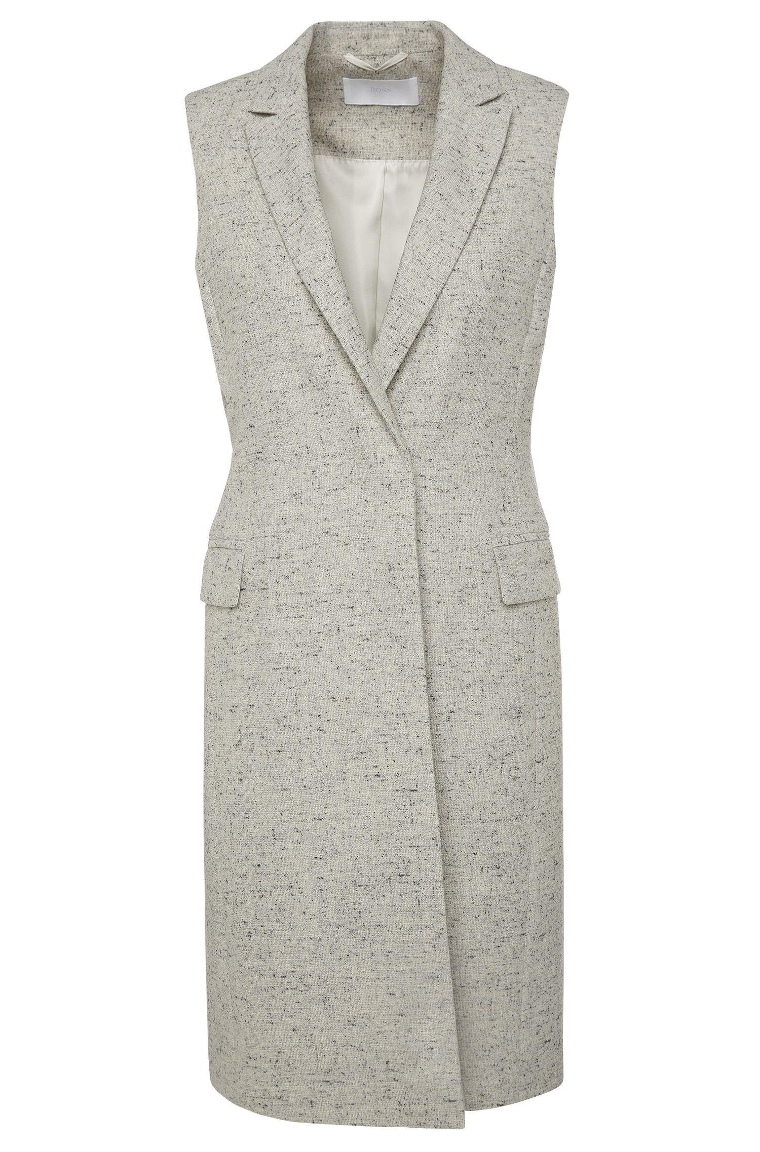 'Karana' | Stretch Wool Silk Blend Vest