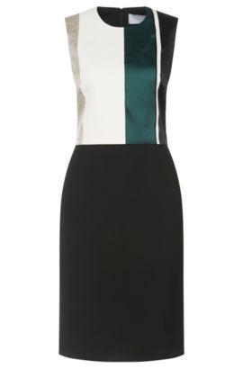 'Dastrina' | Cotton Blend Block Stripe Sheath Dress, Patterned