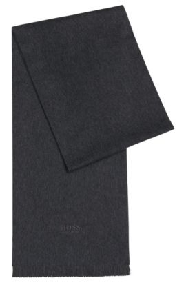 'T-Scottas' | Italian Cashmere Scarf, Charcoal