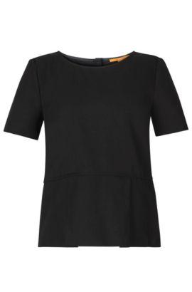 'Kupina' | Cotton Lyocell Blend Layered Blouse, Black
