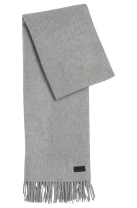 'Men-Z' | Wool Cashmere Scarf, Open Grey