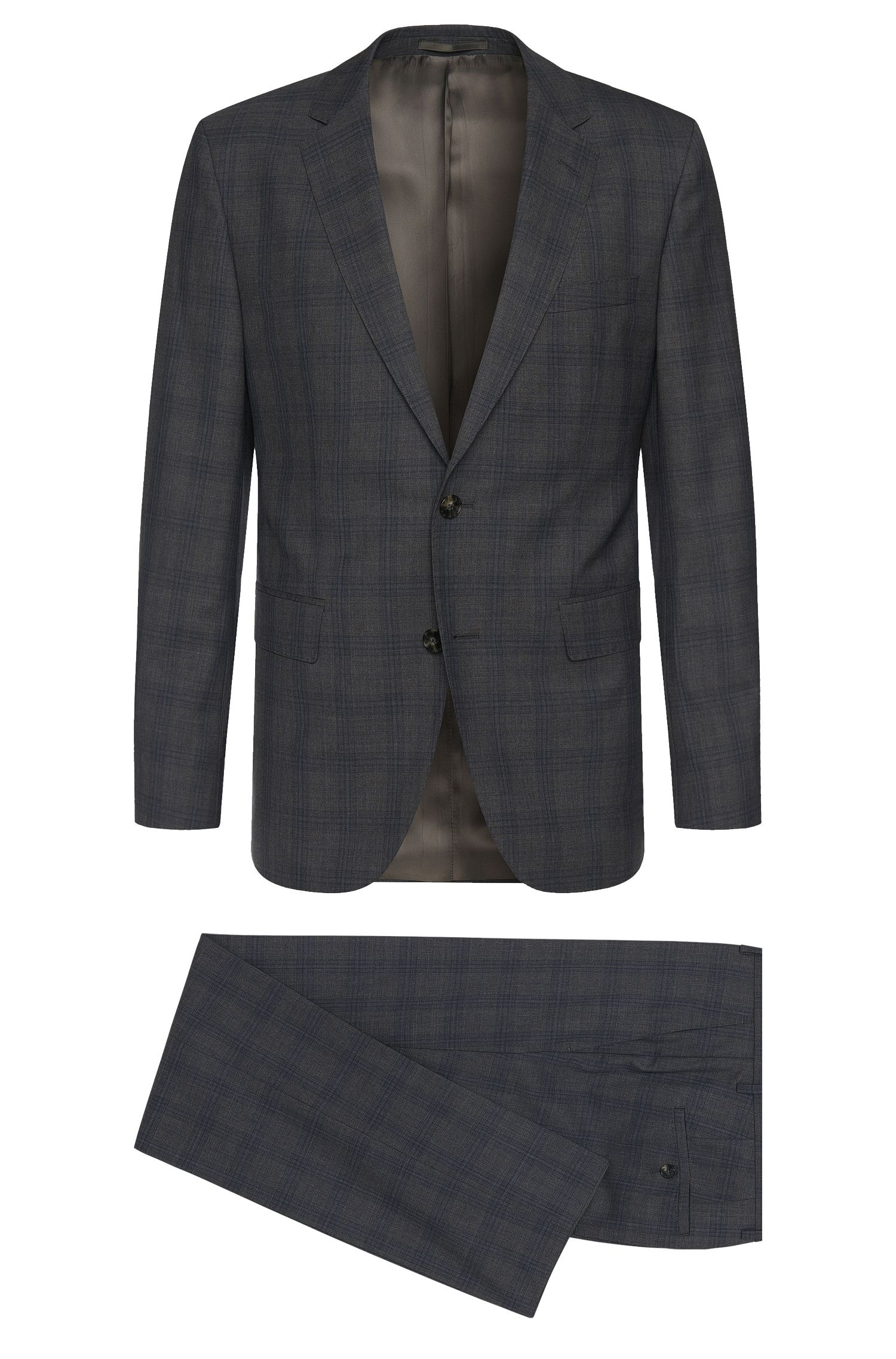 'Johnstons/Lenon' | Regular Fit, Super 100 Virgin Wool Suit