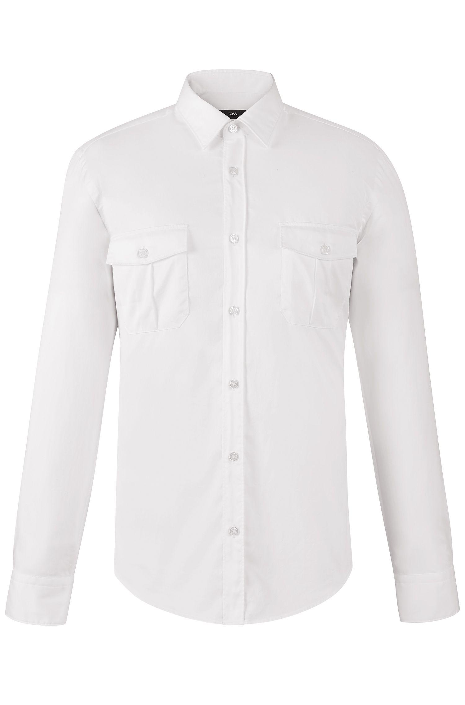 'Ramsey' | Slim Fit, Cotton Button Down Shirt