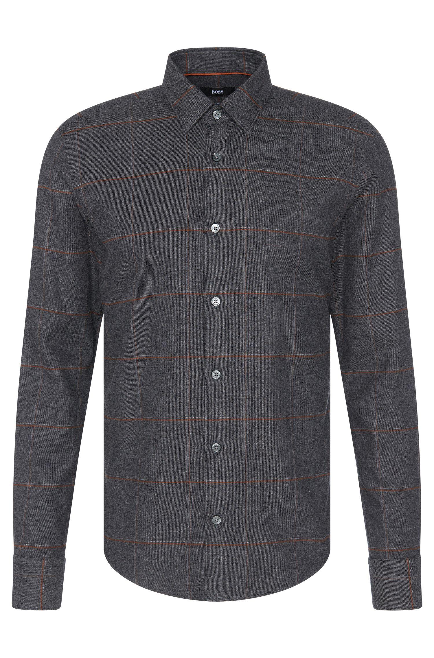 'Reid F' | Slim Fit, Stretch Cotton Button Down Shirt