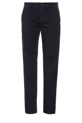 'Schino-Slender-D' | Slim Fit, Stretch Cotton Chinos, Dark Blue