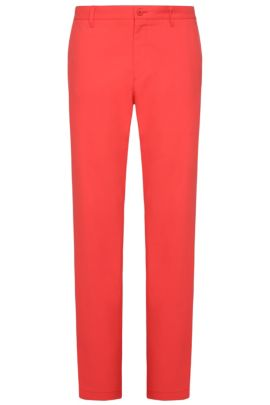 'Hakan' | Slim Fit, CoolMax Performance Golf Pants, Open Red