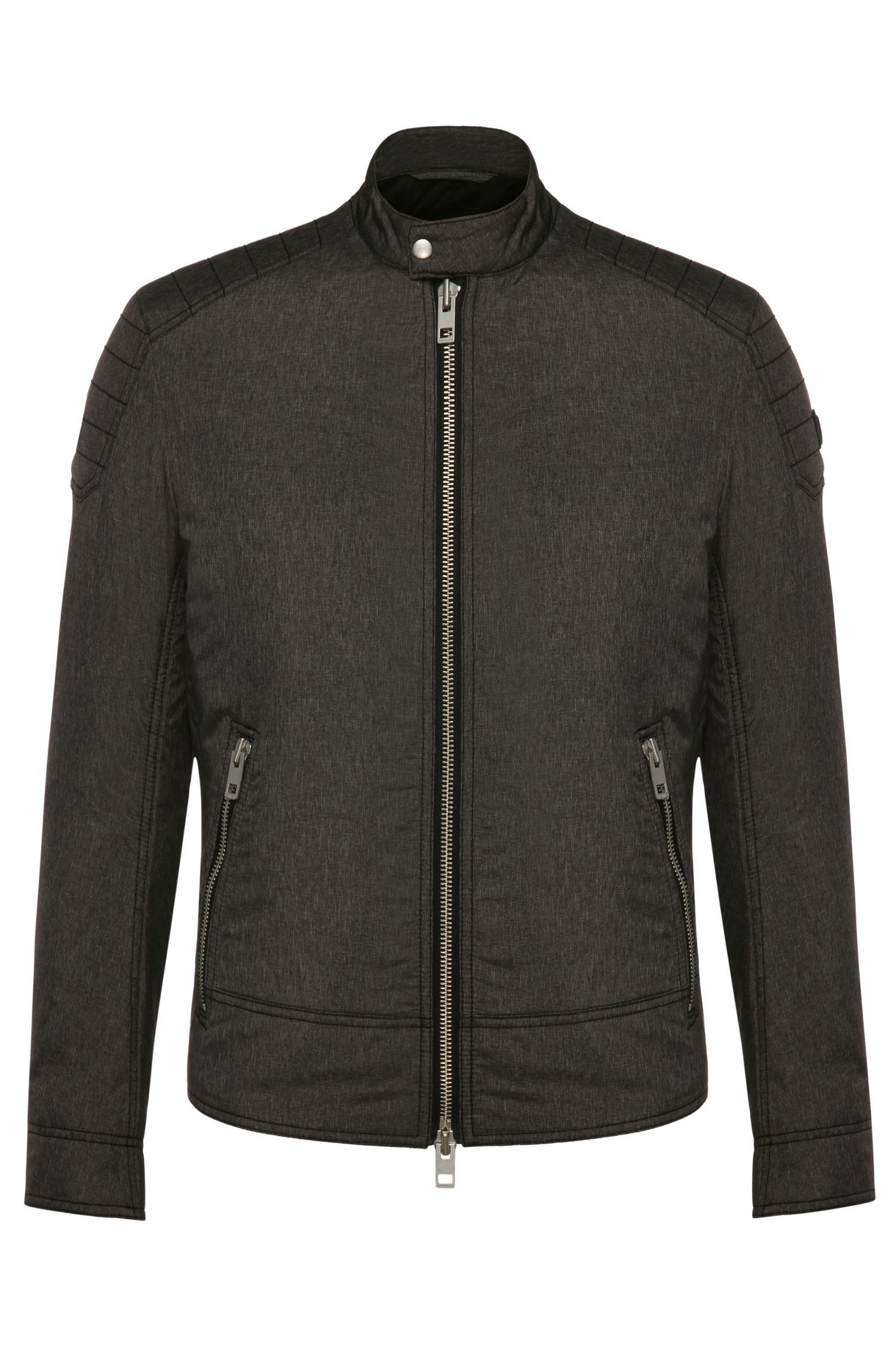 'Oryder' | Nylon Blend Water-Repellent Biker Jacket
