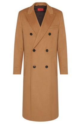 'Melox' | Virgin Wool Cashmere Coat, Light Brown