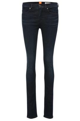 'OrangeJ10' | Stretch Cotton Blend Mid-Rise Jeans, Dark Blue